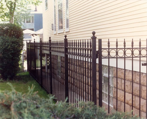 wrought iron spindle with interesting wrought iron.htm standard fencing co   inc wrought iron fences  wrought iron fences
